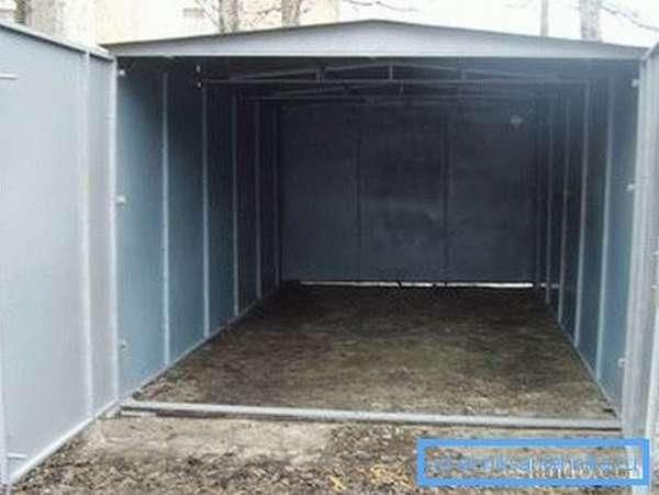 Готовый гараж из металла