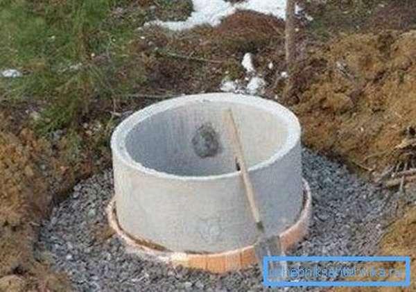 Готовый колодец из бетонных колец