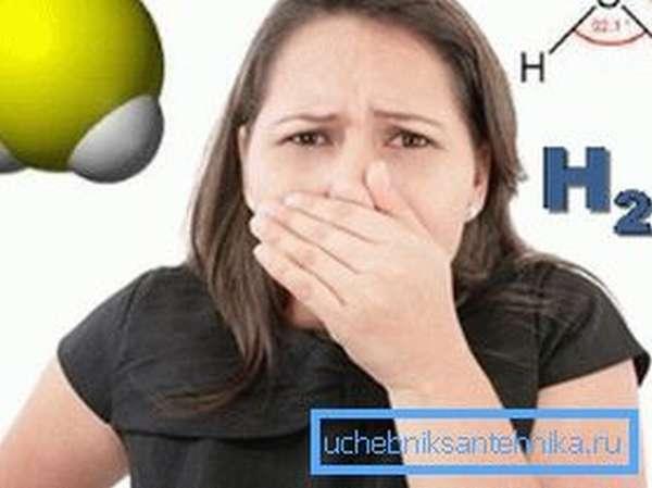 Характерный признак наличия сероводорода – запах тухлых яиц.