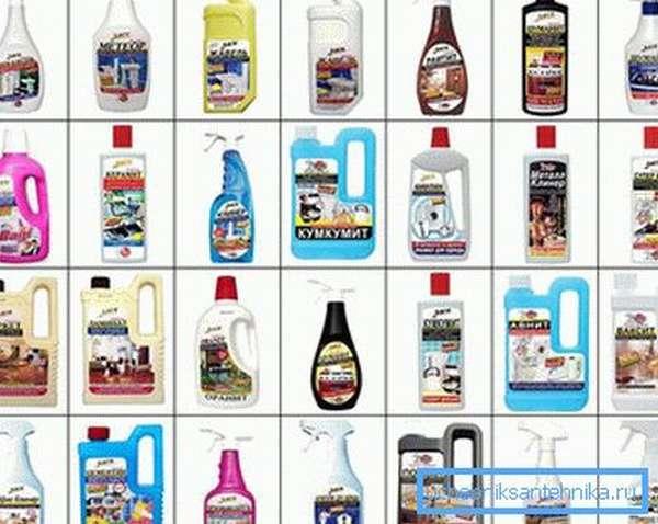 Химические средства для прочистки