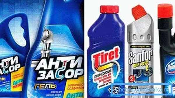 Химия для чистки засоров