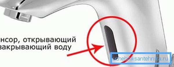 ИК-датчик – основной элемент связи с пользователем.