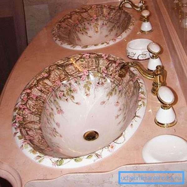 Интересные каменные раковины для ванной