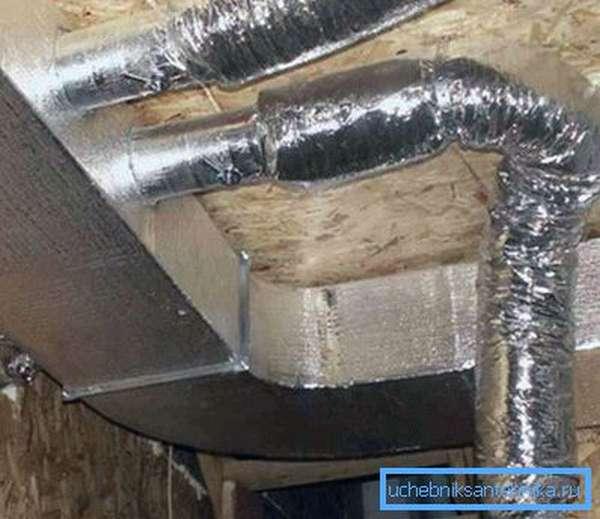 Использование гибких воздуховодов