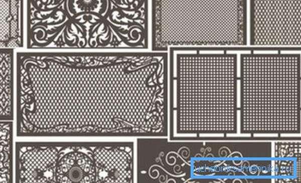 Использование МДФ-панелей позволяет придать решетке необычный внешний вид