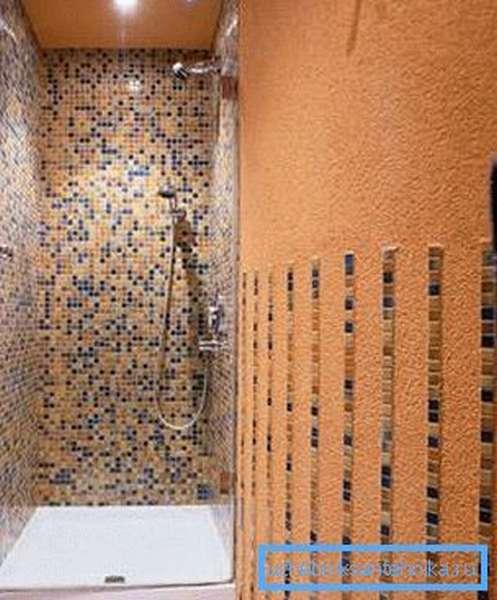 Использование мозаики сделает вашу нишу очень необычной и оригинальной