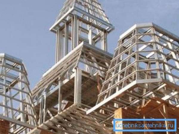 Использование профилей различной конфигурации в храмовом строительстве