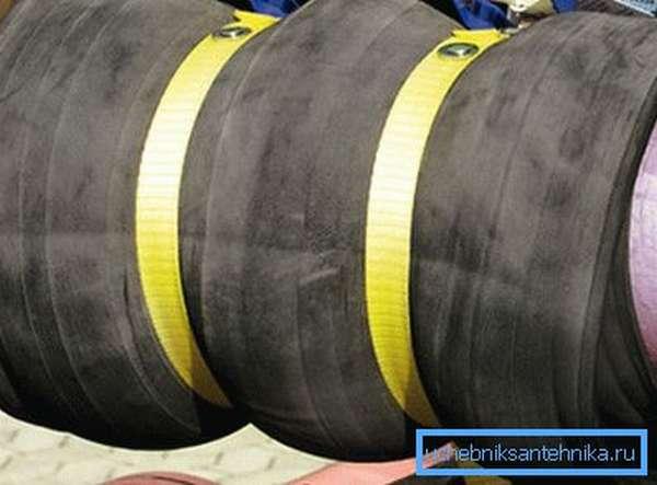 Использование заводского бандажа для труб с уплотнительной резинкой и хомутом