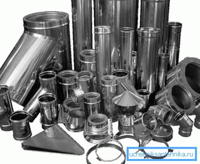 Изделия из нержавейки или оцинковки продаются в виде готовых секций, которые можно приспособить практически под любые нужды или конструкции