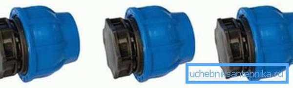 Изделия из ПНД для закупоривания водопровода