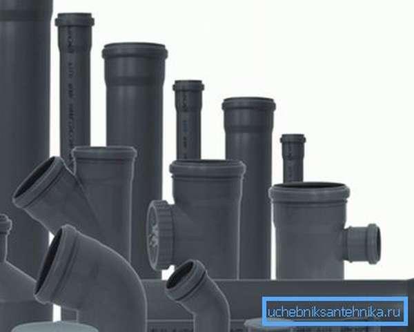 Изделия из ПВХ для сборки канализации