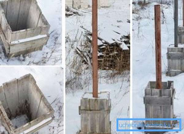 Изготовление бетонных колонн на основе материала, который был в употреблении