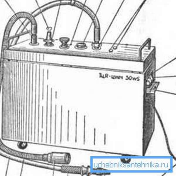Изображение аппарата для создания подводного душа-массажа