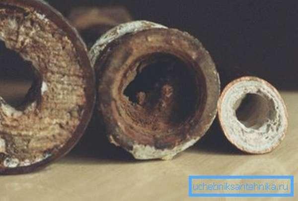 Известковые отложения в трубах