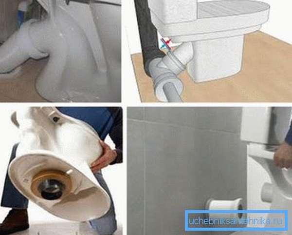 Как происходит подключение унитаза к канализации своими руками
