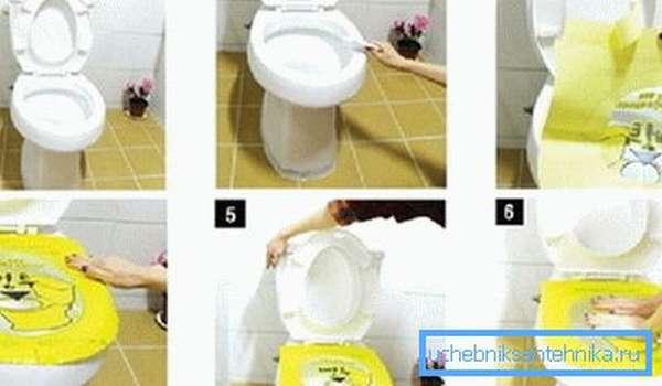 Как работает пленка для прочистки унитаза