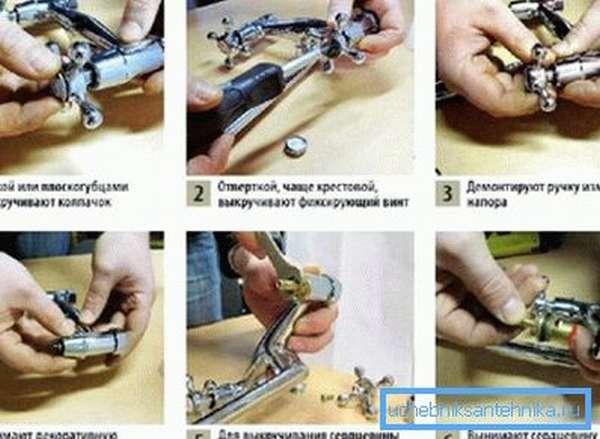 Как ремонтировать кран на кухне пошагово