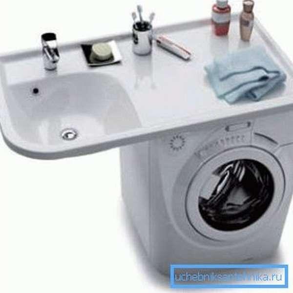 Как совместить мойку и стиральную машину