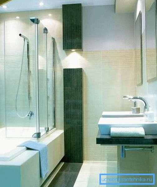Как установить душ на даче совместно с ванной