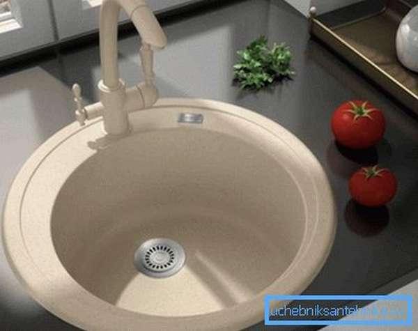 Как выбрать кухонную мойку одинарную из акрилового камня