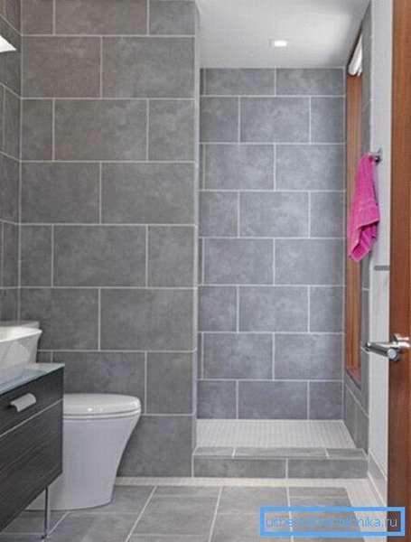 Как выглядит душ в ванной без душевой кабины