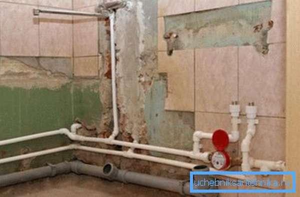 Как заменить канализацию в ванной