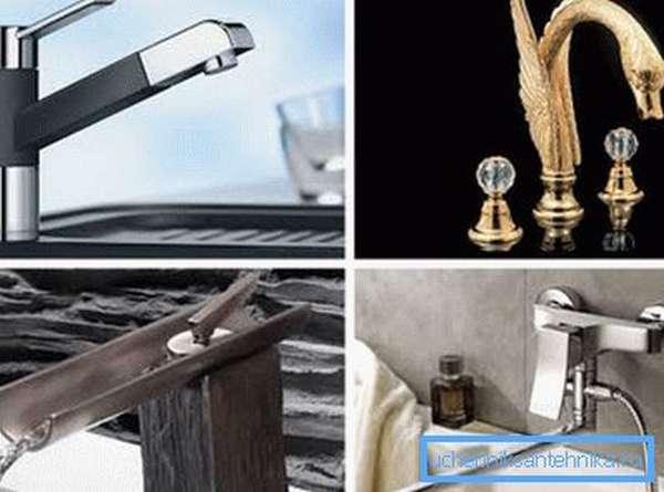 Какие бывают смесители для ванной, кухонной мойки и умывальника