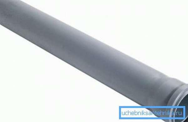 Канализационная труба 40 ПП с раструбом: диаметр 40 мм, длина 500 мм