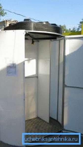 Каркасная душевая кабина для дачи с подогревом – Стиль