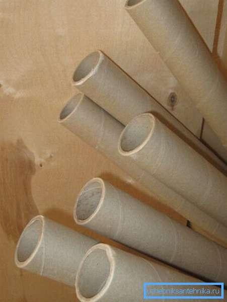 Картонные трубы из-под линолеума