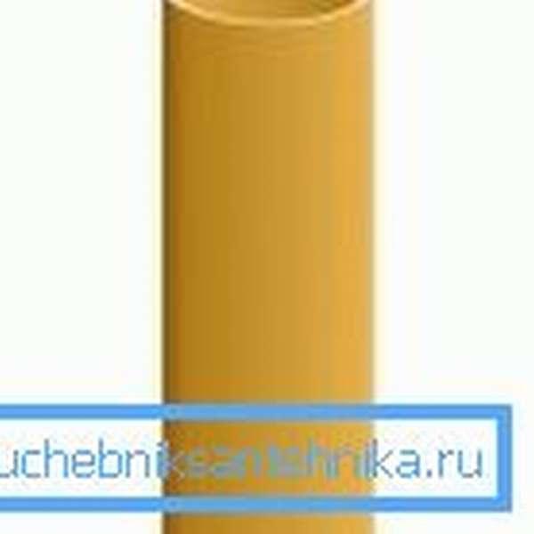 Керамическая труба, которую используют при создании системы отвода, продуктов горения печи