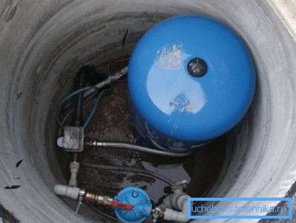Кессон является началом системы водоснабжения