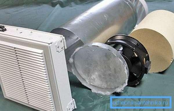 Клапан для приточной вентиляции.