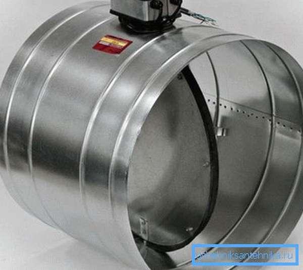 Клапан с электроприводом для вентиляции из металла