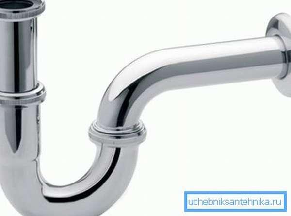 Классический водяной затвор для канализации в виде колена
