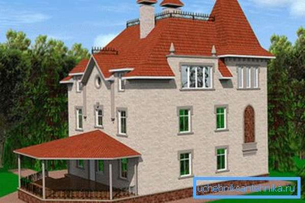 Количество этажей в доме также влияет на теплопроводность конструкций