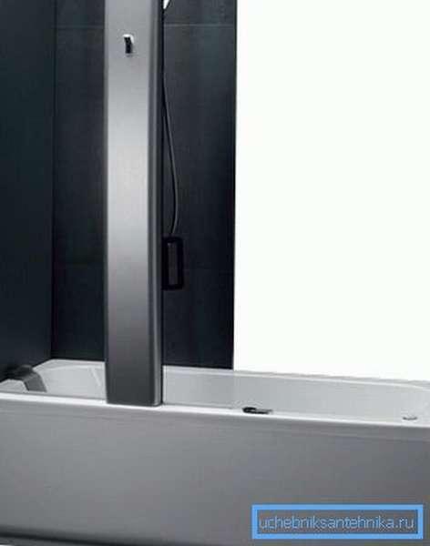 Комбинированная душевая кабина 180 на 80 совмещает в себе ванну и душевую в одной конструкции