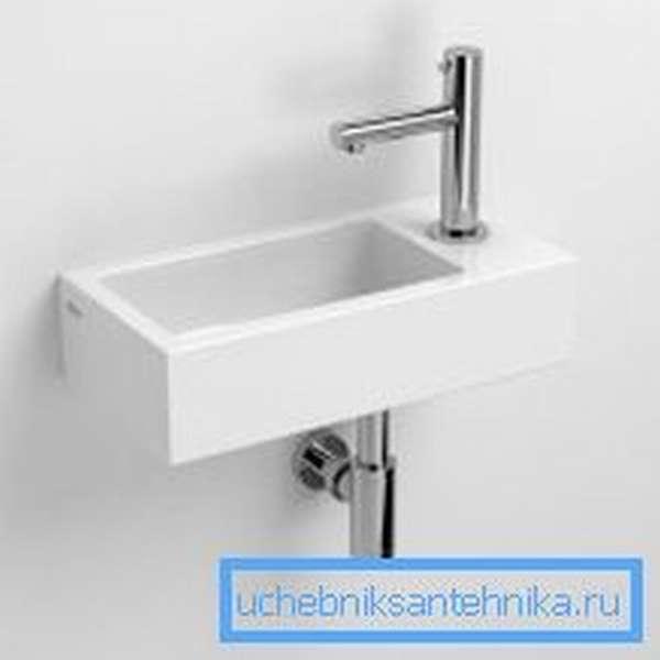 Компактная раковина для туалета из керамики