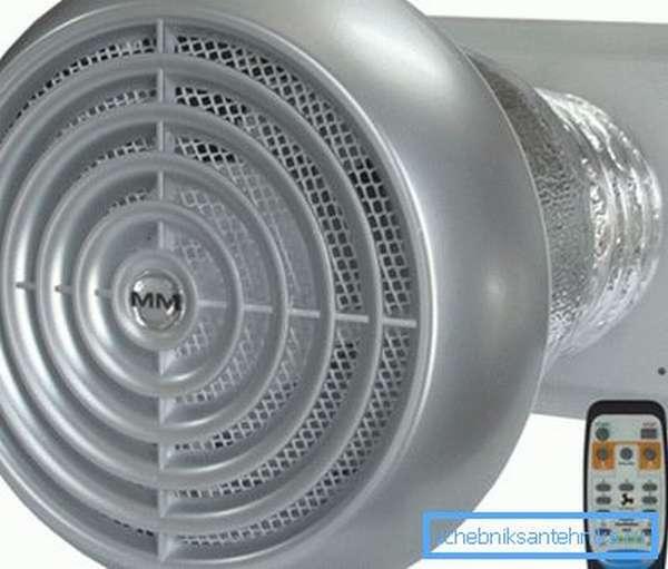 Компактная система вентиляции для жилого дома со встроенным рекуператором.