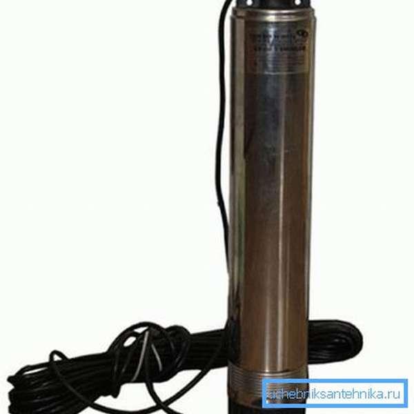 Компактный насос в колодец для водопровода центробежного типа работы