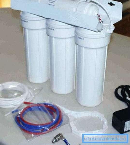Комплект фильтра тонкой очистки воды
