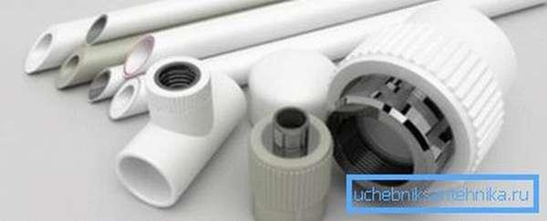 Компоненты, необходимые для монтажа водопровода