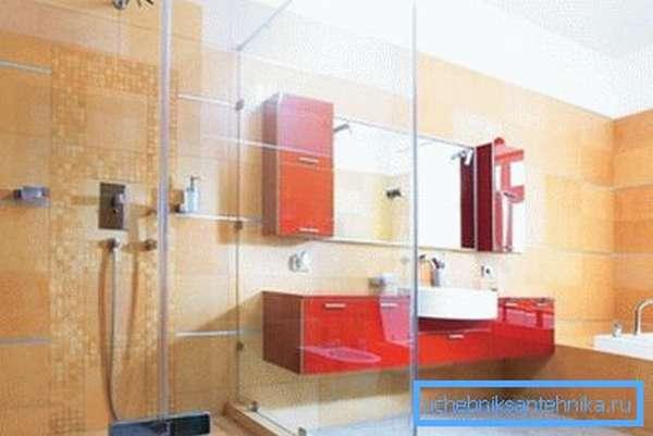 Концепция оформления современной душевой комнаты.