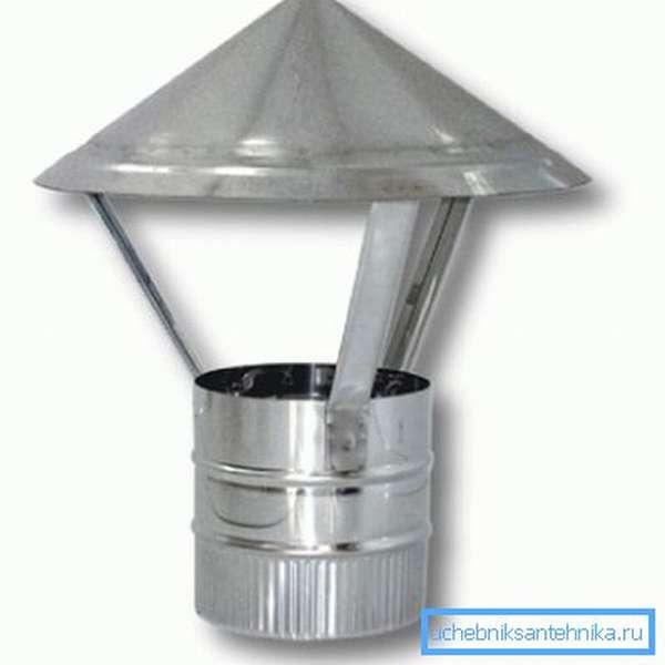 Конусный дефлектор для печной трубы