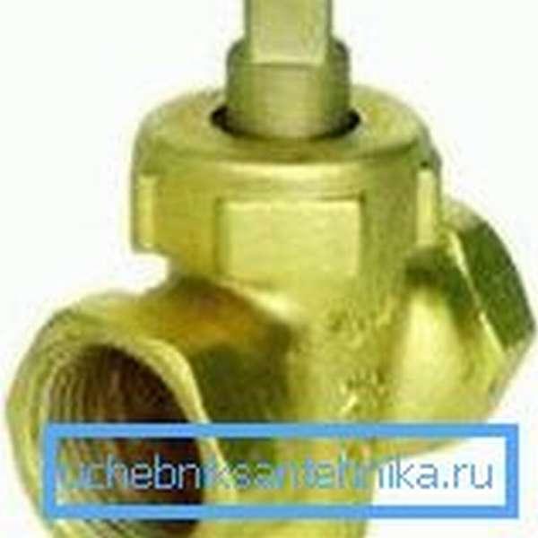 Конусный водопроводный кран на 15
