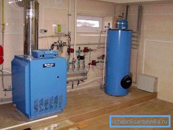Котел на жидком топливе нуждается в отдельном помещении