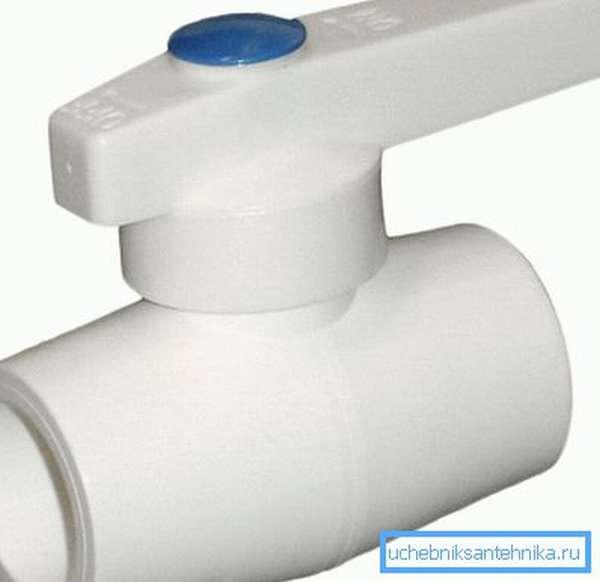 Кран для полипропиленового трубопровода