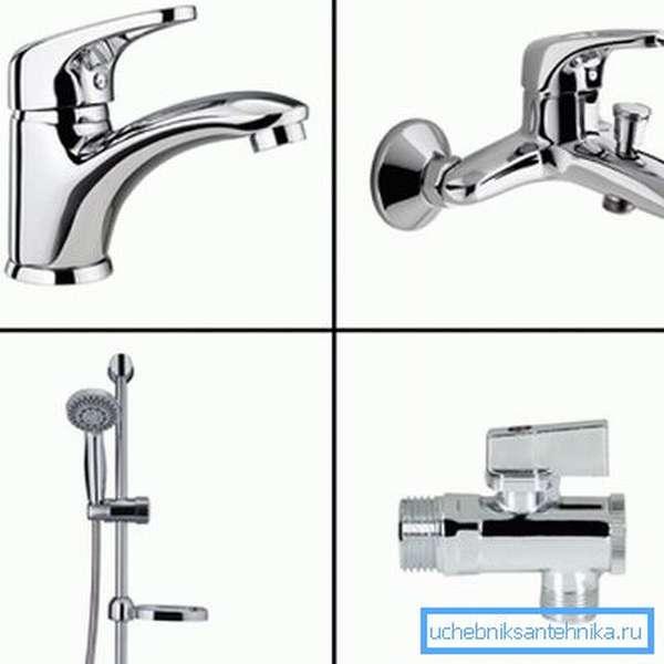Кран для ванной или кухни можно выбирать из множества моделей
