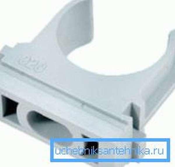 Крепление - клипса для полимерных и металлопластиковых трубопроводов.