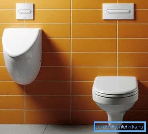 Крепление унитаза к стене становится модным и популярным.